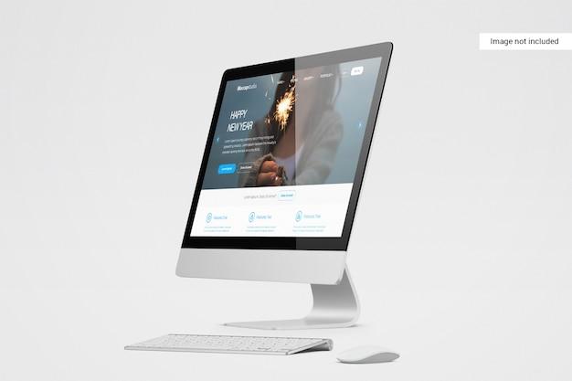 Mockup voor desktopscherm
