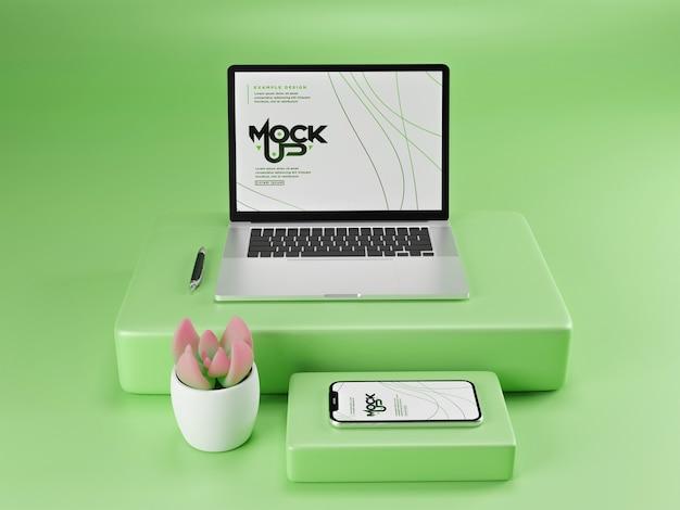 Mockup voor digitaal apparaat geïsoleerd