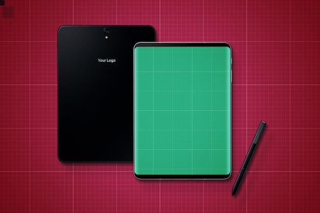 Mockup voor digitale tablets en pennen