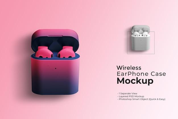Mockup voor draadloze oortelefoonhoes