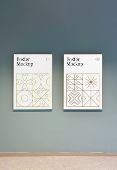 Mockup voor dubbele poster
