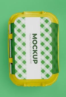 Mockup voor ecologische eierenverpakking