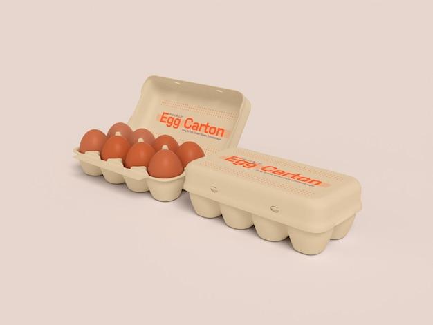 Mockup voor eierdoos