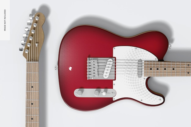 Mockup voor elektrische gitaar, close-up