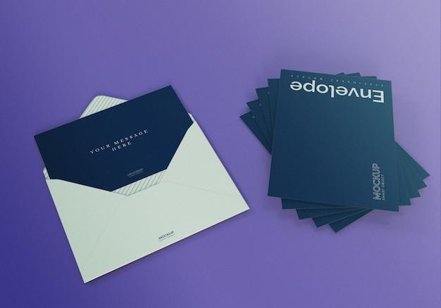 Mockup voor enveloppen en uitnodigingen