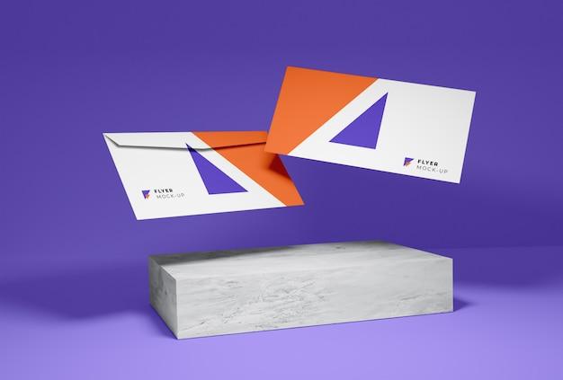 Mockup voor enveloppen