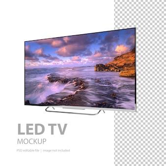 Mockup voor flatscreen-tv