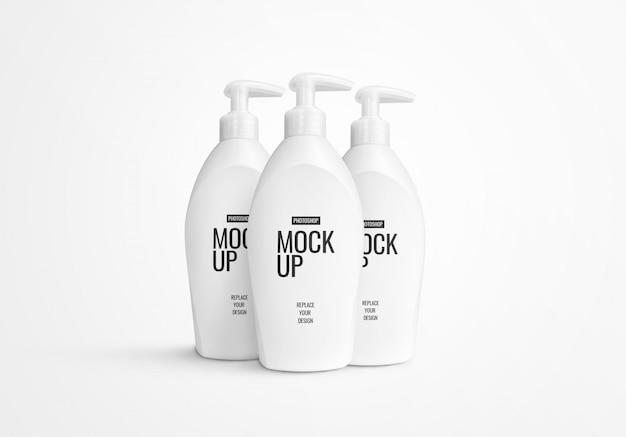 Mockup voor fles met vloeibare pomp