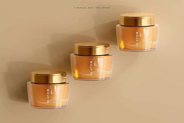 Mockup voor glazen cosmetische pot