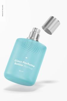 Mockup voor glazen parfumflesjes van 50 ml