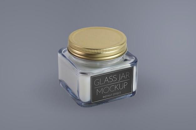 Mockup voor glazen pot