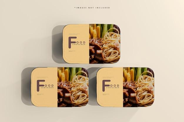Mockup voor groot formaat voedselcontainer