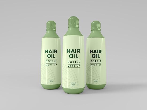 Mockup voor haarolieflesverpakking