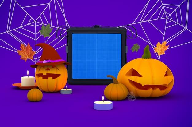 Mockup voor halloween-bezorgtas