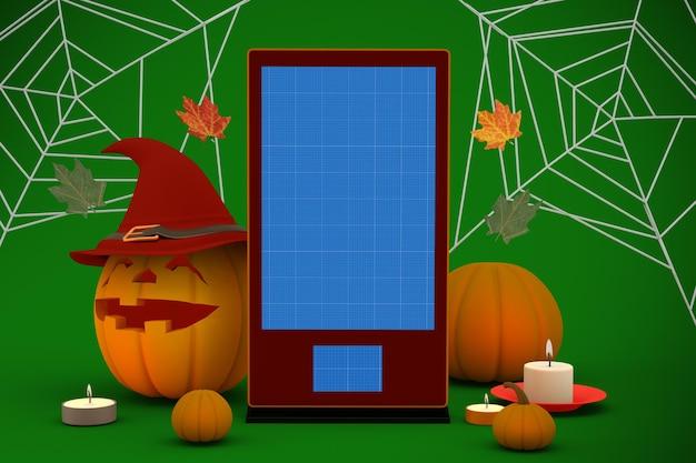 Mockup voor halloween-borden