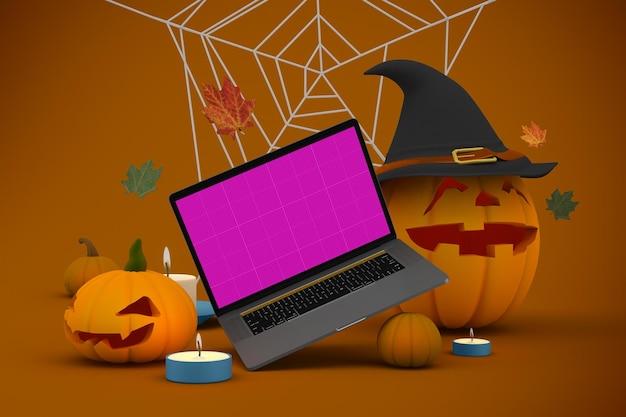 Mockup voor halloween-website