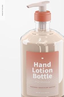 Mockup voor handlotionfles van 500 ml, close-up