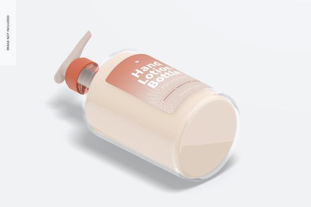 Mockup voor handlotionfles van 500 ml, isometrische weergave