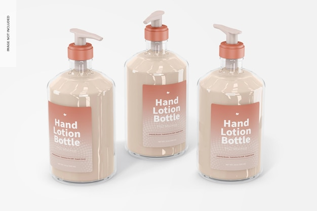 Mockup voor handlotionflessen van 500 ml