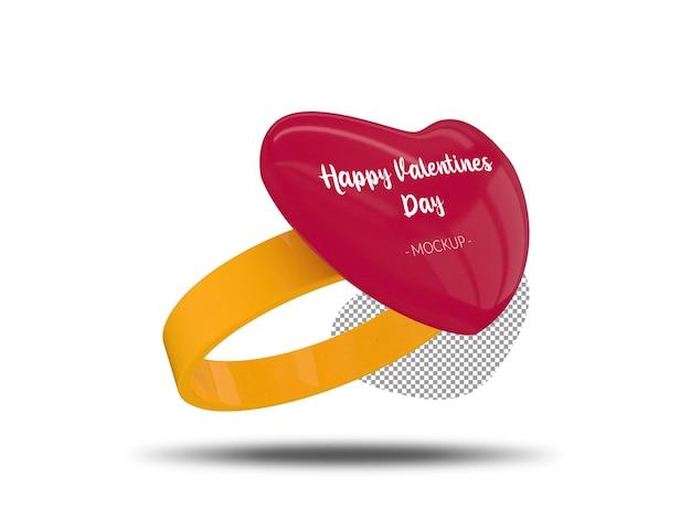 Mockup voor happy valentine's day-ring