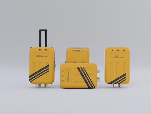 Mockup voor harde koffers