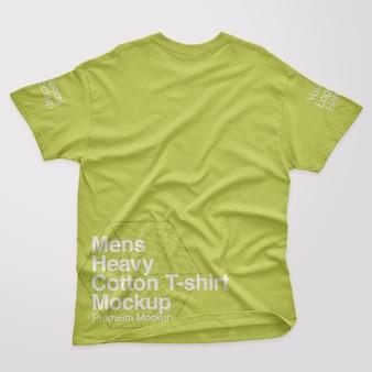 Mockup voor heren met zwaar katoenen rug t-shirt