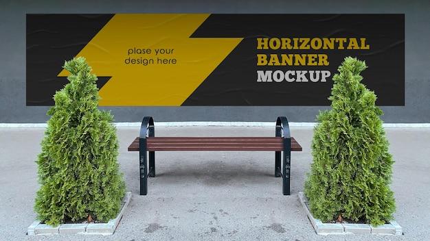 Mockup voor horizontale banner