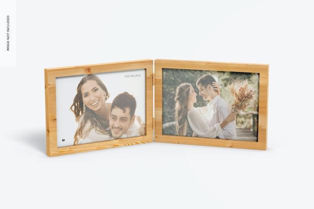 Mockup voor horizontale dubbele fotolijst