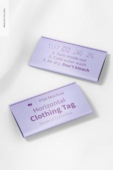 Mockup voor horizontale kledinglabels