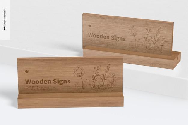 Mockup voor houten borden