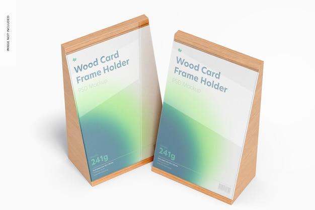 Mockup voor houten kaartframes