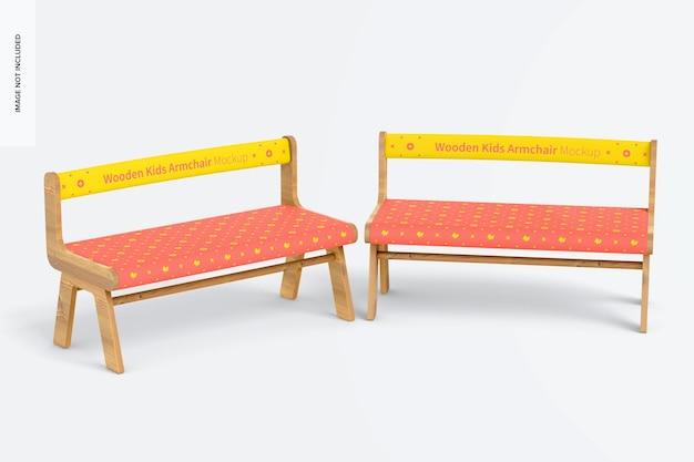 Mockup voor houten kinderfauteuils