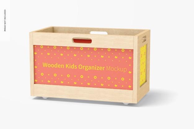 Mockup voor houten kinderorganizer