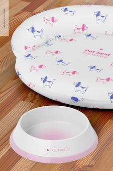 Mockup voor huisdierenstoel, close-up