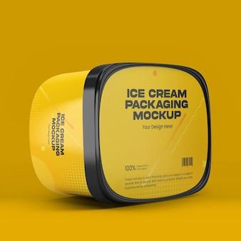 Mockup voor ijsverpakking
