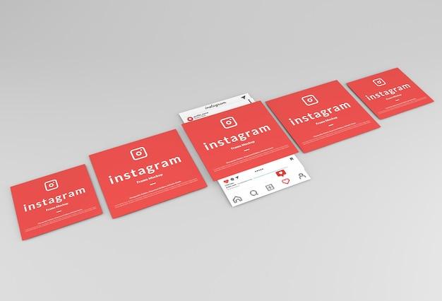 Mockup voor instagram-postframe-interface