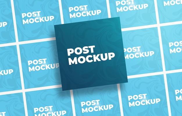Mockup voor instagram-postkaarten