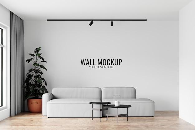 Mockup voor interieurbehang