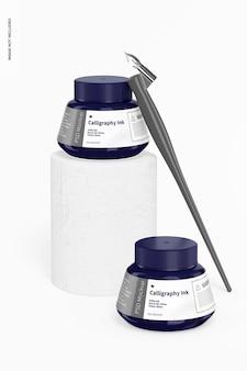 Mockup voor kalligrafie-inkt