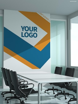 Mockup voor kantoorborden