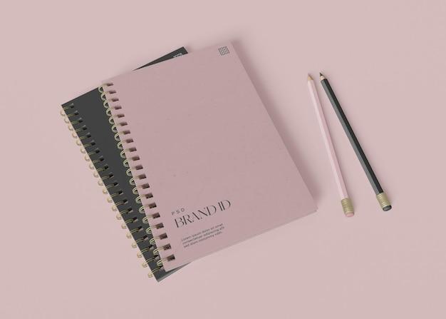 Mockup voor kantoornotitieboeken