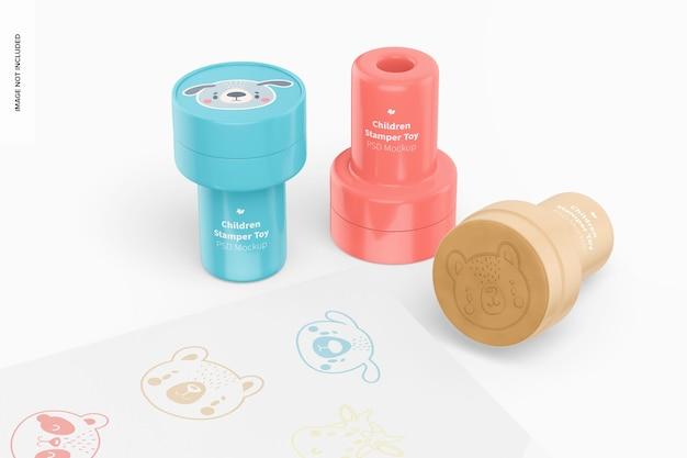 Mockup voor kinderen stamper toys