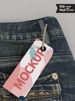 Mockup voor kledinglabels