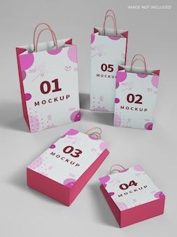 Mockup voor kleine boodschappentassen