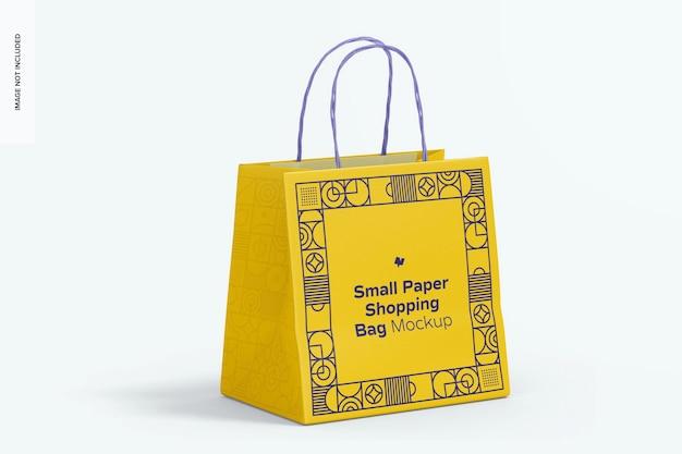 Mockup voor kleine papieren boodschappentassen