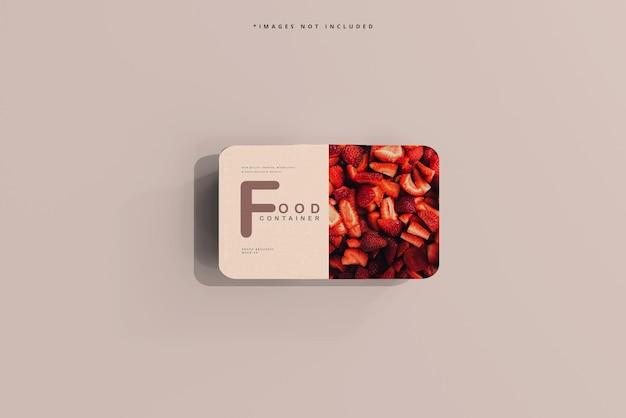 Mockup voor kleine voedselcontainers