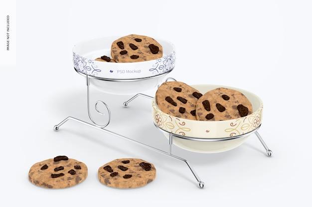 Mockup voor koekjesstandaard, perspectief