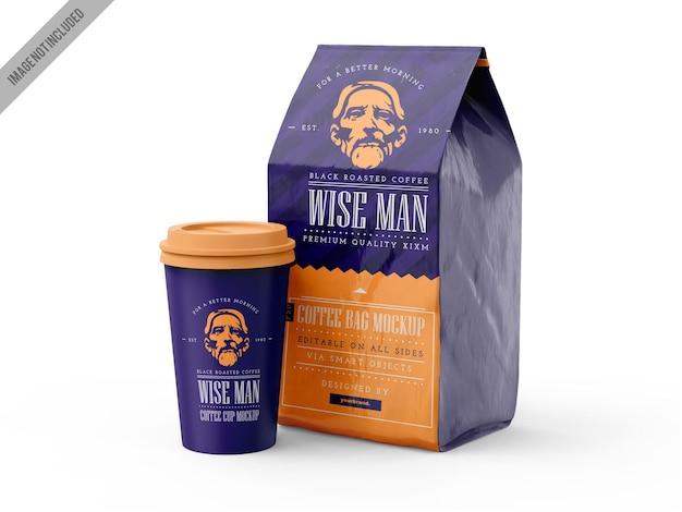 Mockup voor koffiebranding