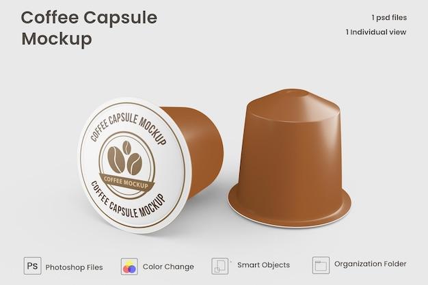 Mockup voor koffiecapsules
