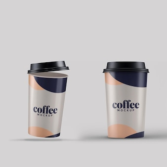 Mockup voor koffiekopjes